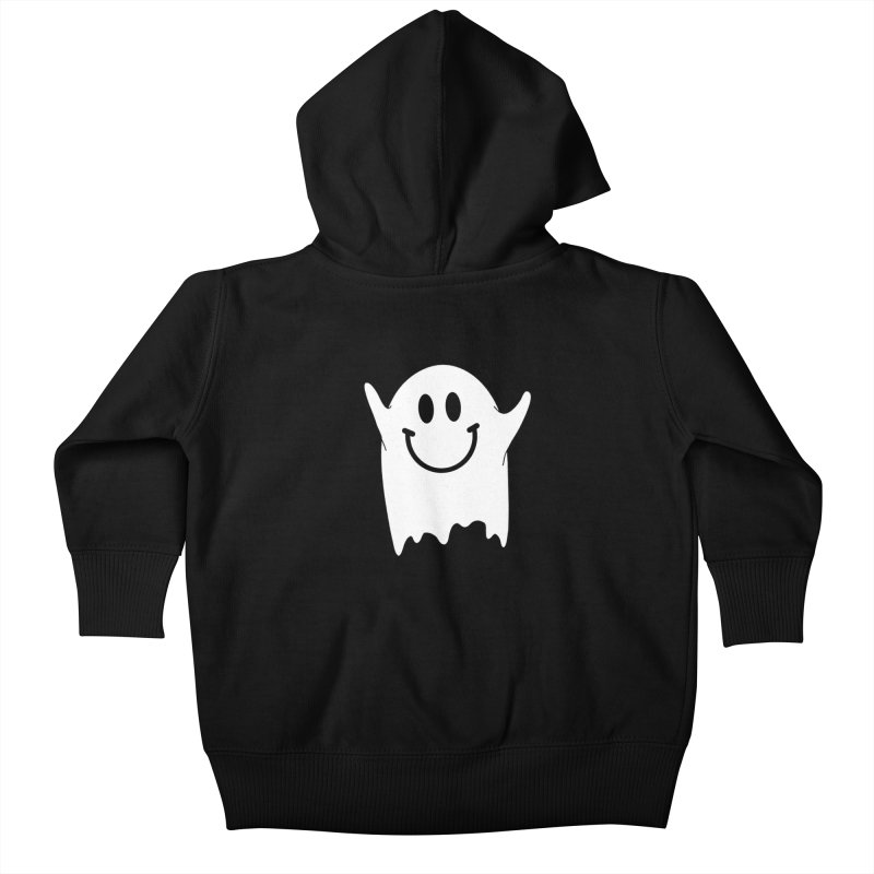 Happy ghost Kids Baby Zip-Up Hoody by clingcling's Artist Shop