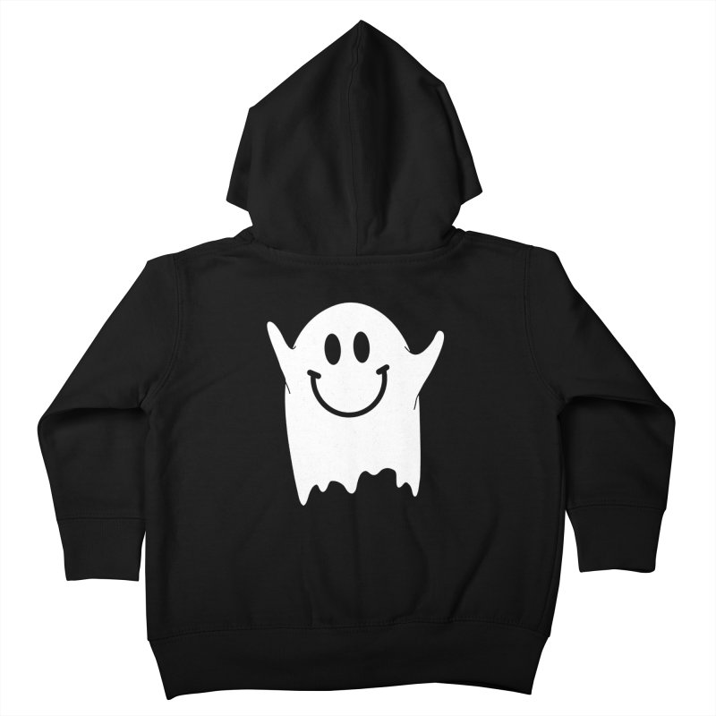 Happy ghost Kids Toddler Zip-Up Hoody by clingcling's Artist Shop