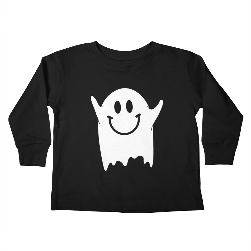 Happy ghost Kids Toddler Longsleeve T-Shirt by clingcling's Artist Shop