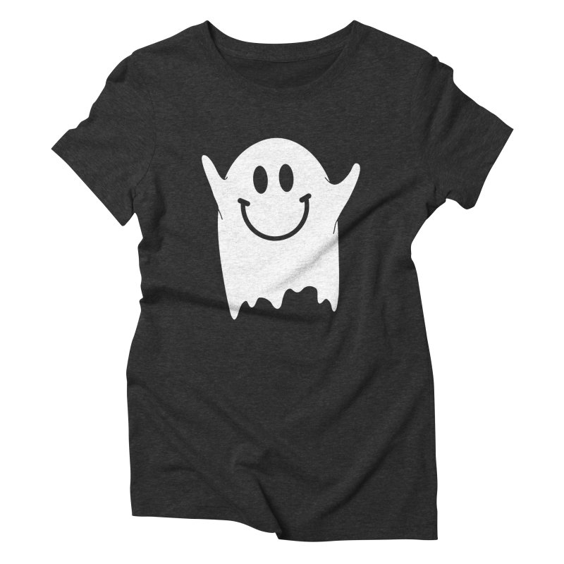 Happy ghost Women's Triblend T-Shirt by clingcling's Artist Shop