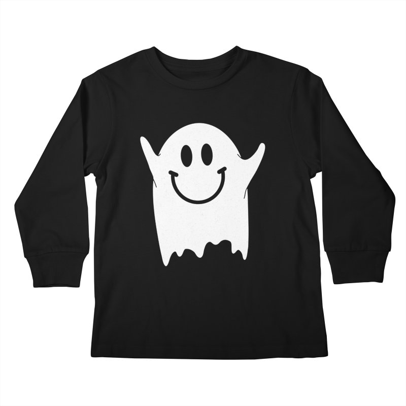 Happy ghost Kids Longsleeve T-Shirt by clingcling's Artist Shop