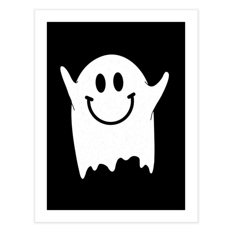Happy ghost Home Fine Art Print by clingcling's Artist Shop