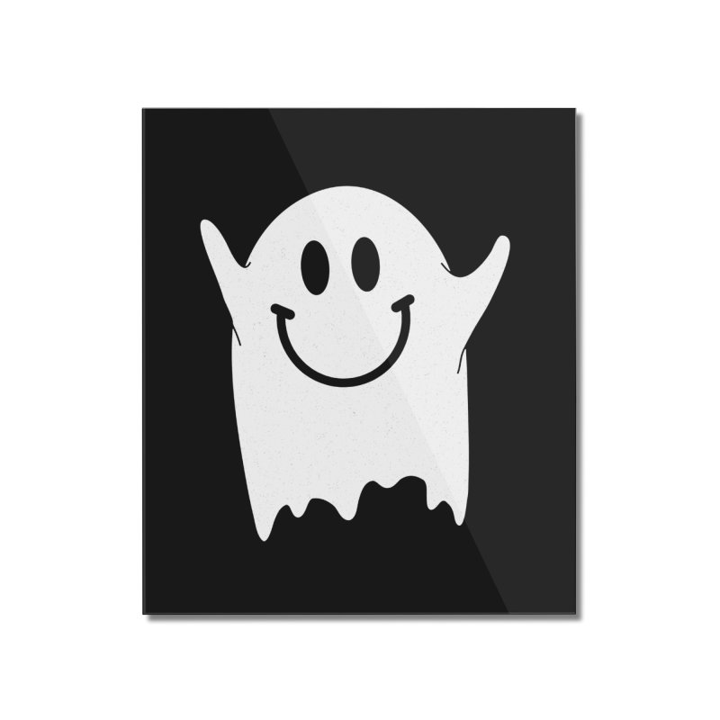 Happy ghost Home Mounted Acrylic Print by clingcling's Artist Shop