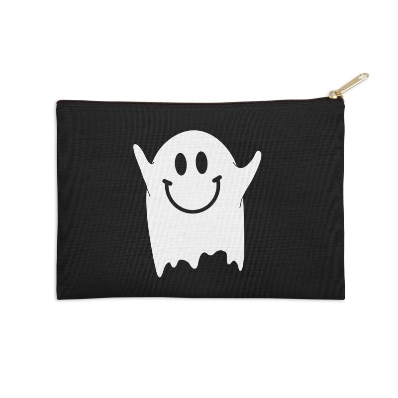 Happy ghost Accessories Zip Pouch by clingcling's Artist Shop
