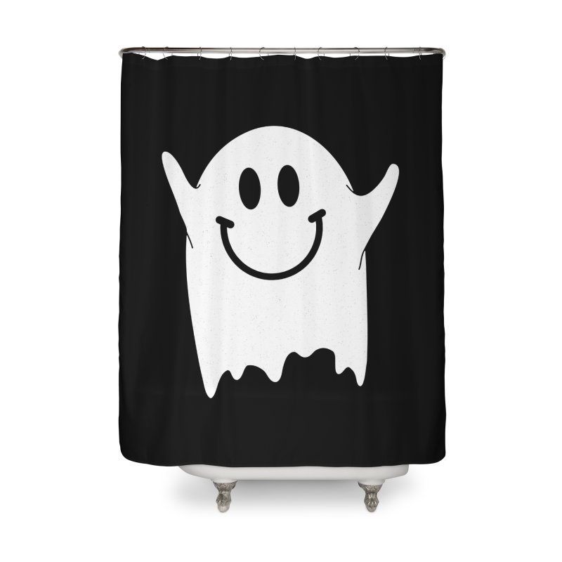Happy ghost Home Shower Curtain by clingcling's Artist Shop