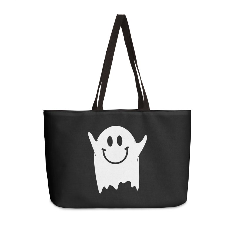Happy ghost Accessories Weekender Bag Bag by clingcling's Artist Shop