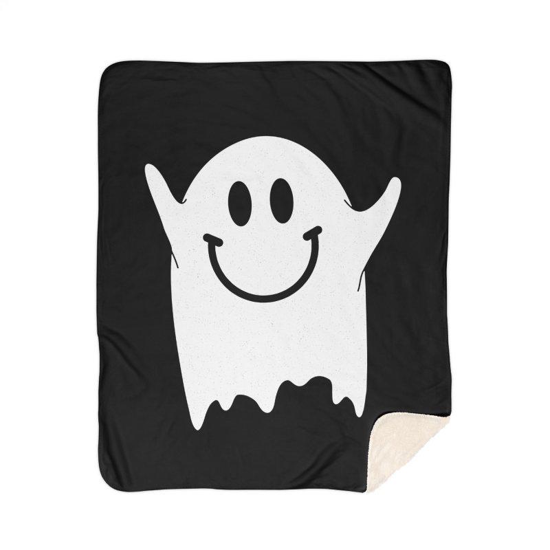 Happy ghost Home Sherpa Blanket Blanket by clingcling's Artist Shop
