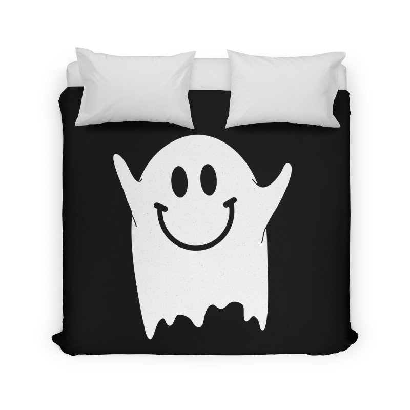 Happy ghost Home Duvet by clingcling's Artist Shop