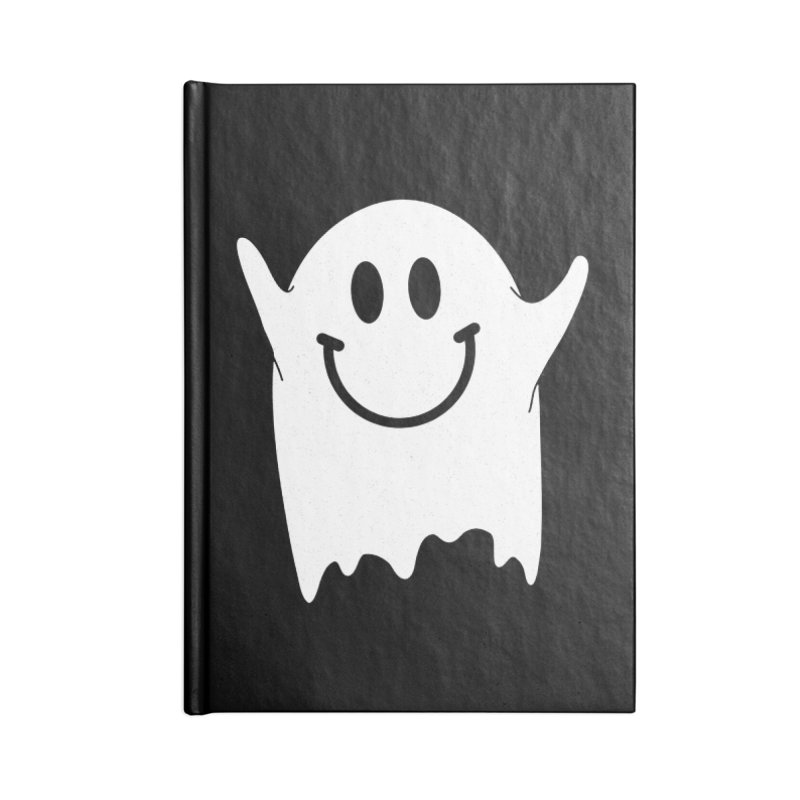 Happy ghost Accessories Blank Journal Notebook by clingcling's Artist Shop