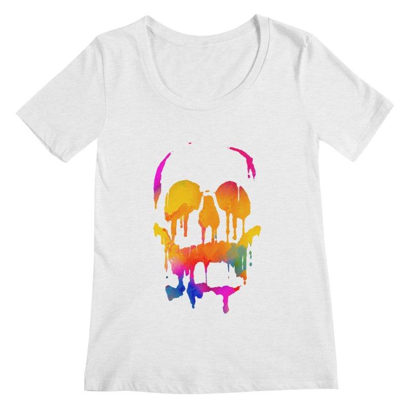 Candy skull Women's Regular Scoop Neck by clingcling's Artist Shop