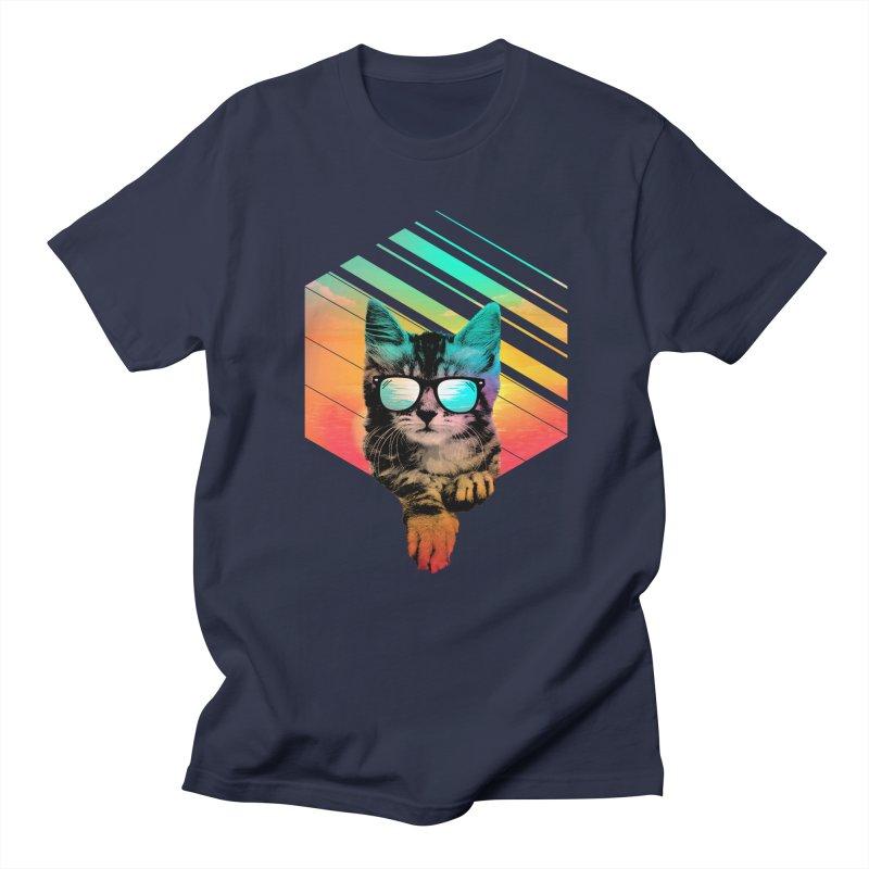 Cool Summer Cat Men's Regular T-Shirt by clingcling's Artist Shop