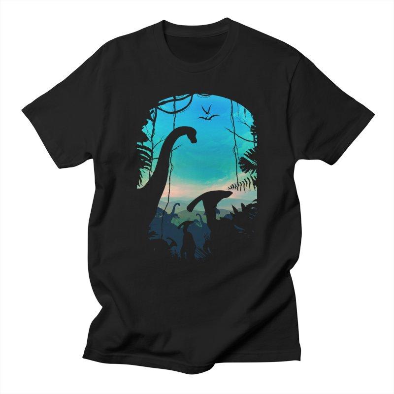 Dino World Men's Regular T-Shirt by clingcling's Artist Shop