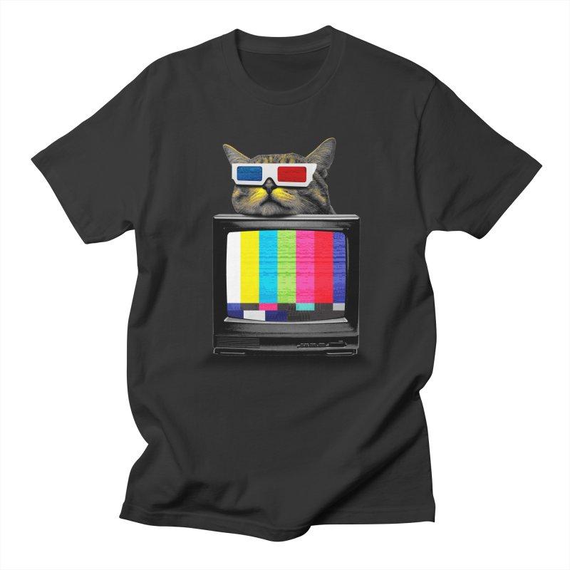 House cat in 3d Men's Regular T-Shirt by clingcling's Artist Shop