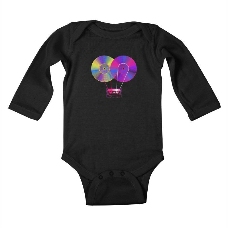 Nonstop Kids Baby Longsleeve Bodysuit by clingcling's Artist Shop