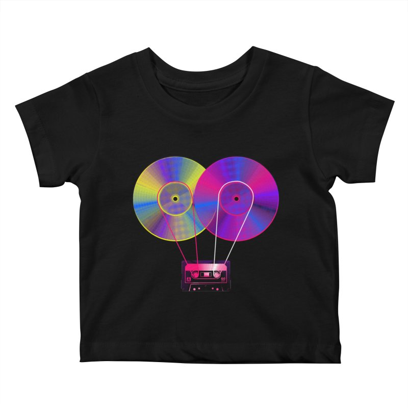 Nonstop Kids Baby T-Shirt by clingcling's Artist Shop