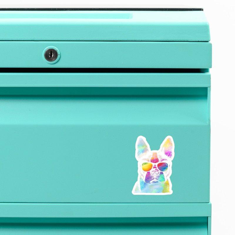 Rainbow summer pug Accessories Magnet by clingcling's Artist Shop