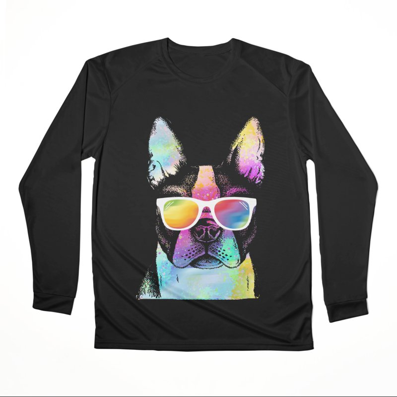 Rainbow summer pug Women's Performance Unisex Longsleeve T-Shirt by clingcling's Artist Shop