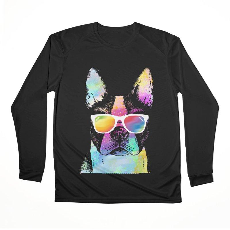 Rainbow summer pug Men's Performance Longsleeve T-Shirt by clingcling's Artist Shop