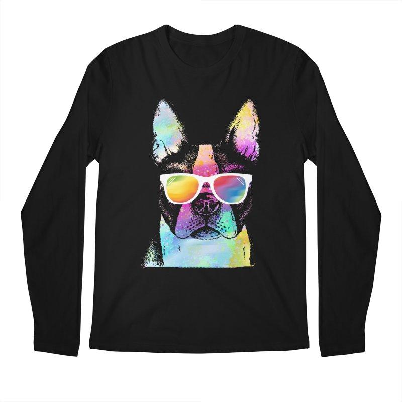 Rainbow summer pug Men's Regular Longsleeve T-Shirt by clingcling's Artist Shop