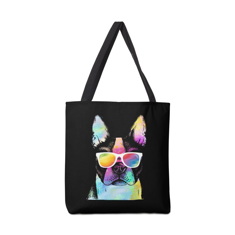 Rainbow summer pug Accessories Tote Bag Bag by clingcling's Artist Shop