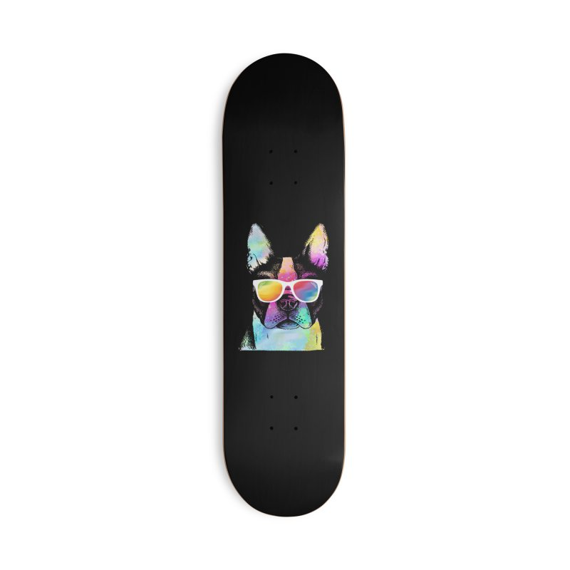 Rainbow summer pug Accessories Deck Only Skateboard by clingcling's Artist Shop
