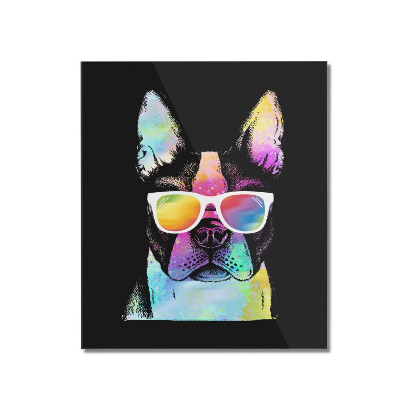 Rainbow summer pug Home Mounted Acrylic Print by clingcling's Artist Shop