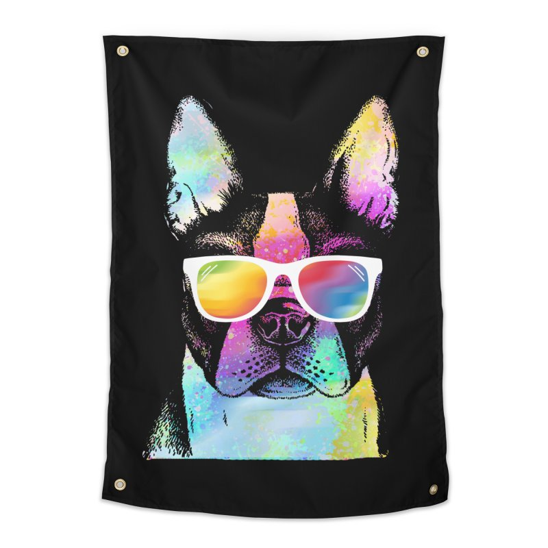 Rainbow summer pug Home Tapestry by clingcling's Artist Shop