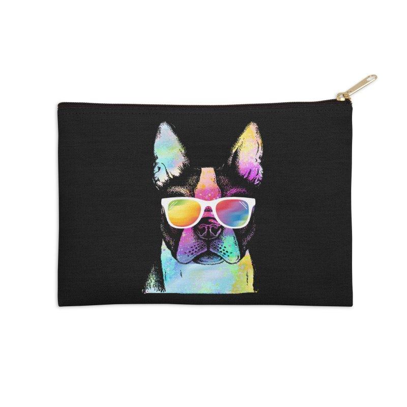 Rainbow summer pug Accessories Zip Pouch by clingcling's Artist Shop