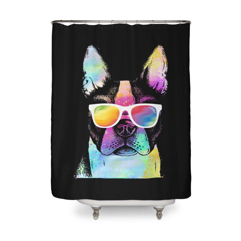 Rainbow summer pug Home Shower Curtain by clingcling's Artist Shop