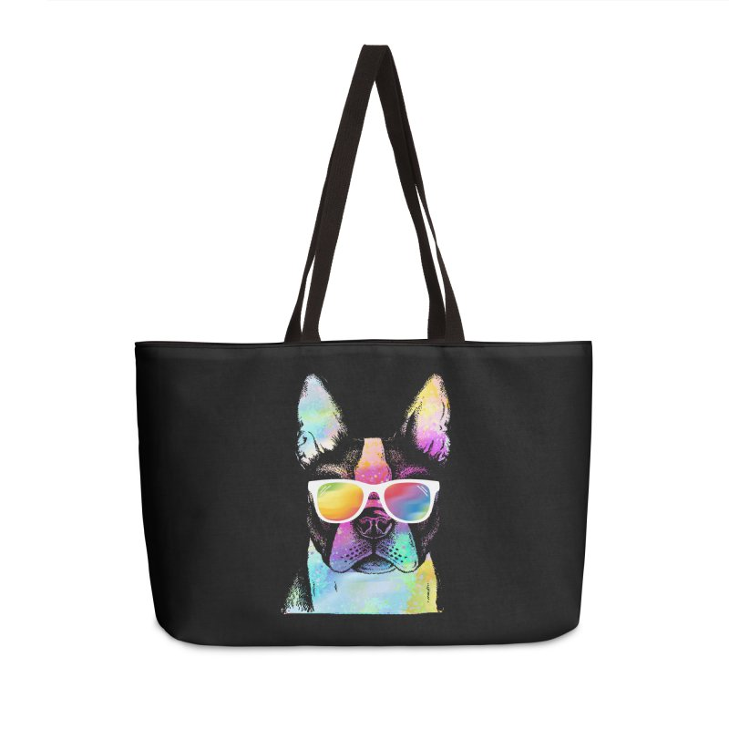 Rainbow summer pug Accessories Weekender Bag Bag by clingcling's Artist Shop