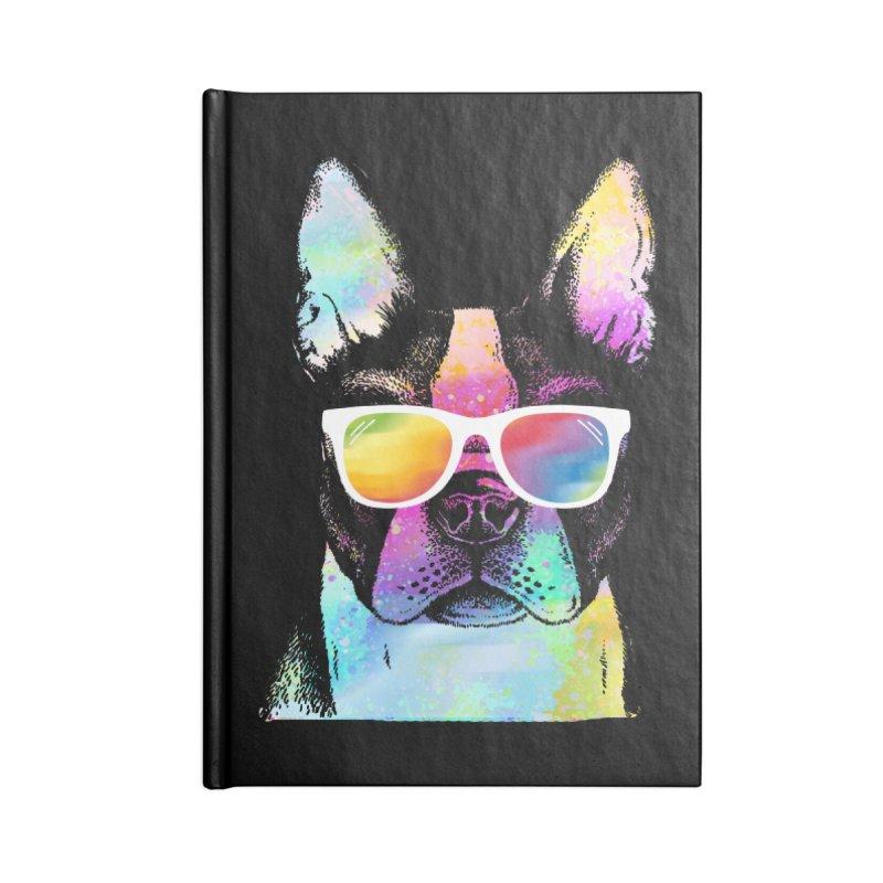 Rainbow summer pug Accessories Lined Journal Notebook by clingcling's Artist Shop