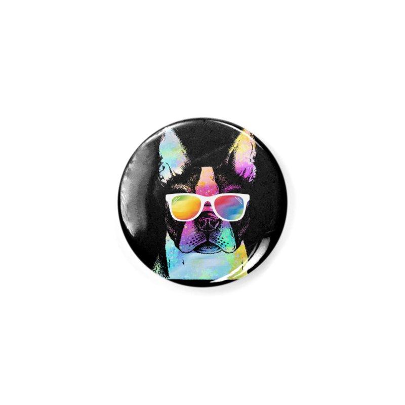 Rainbow summer pug Accessories Button by clingcling's Artist Shop