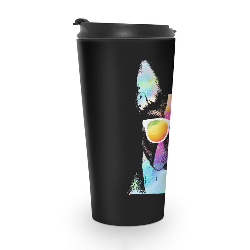 Rainbow summer pug Accessories Travel Mug by clingcling's Artist Shop