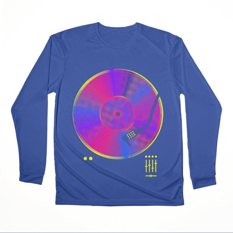 Retro Music Men's Performance Longsleeve T-Shirt by clingcling's Artist Shop