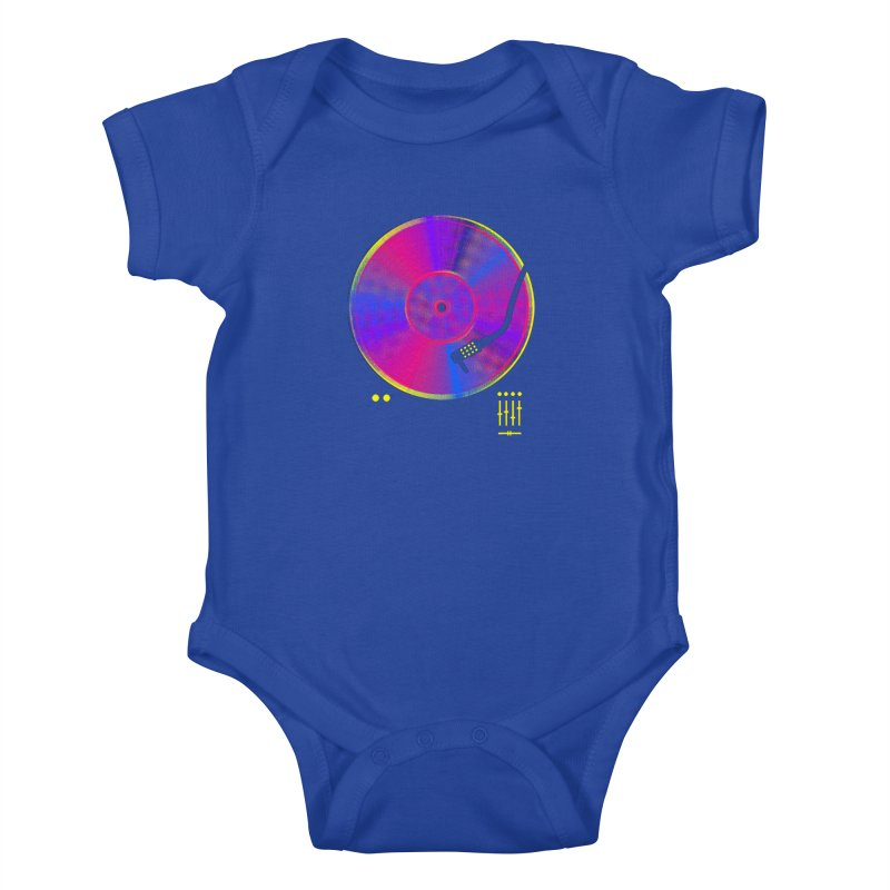Retro Music Kids Baby Bodysuit by clingcling's Artist Shop