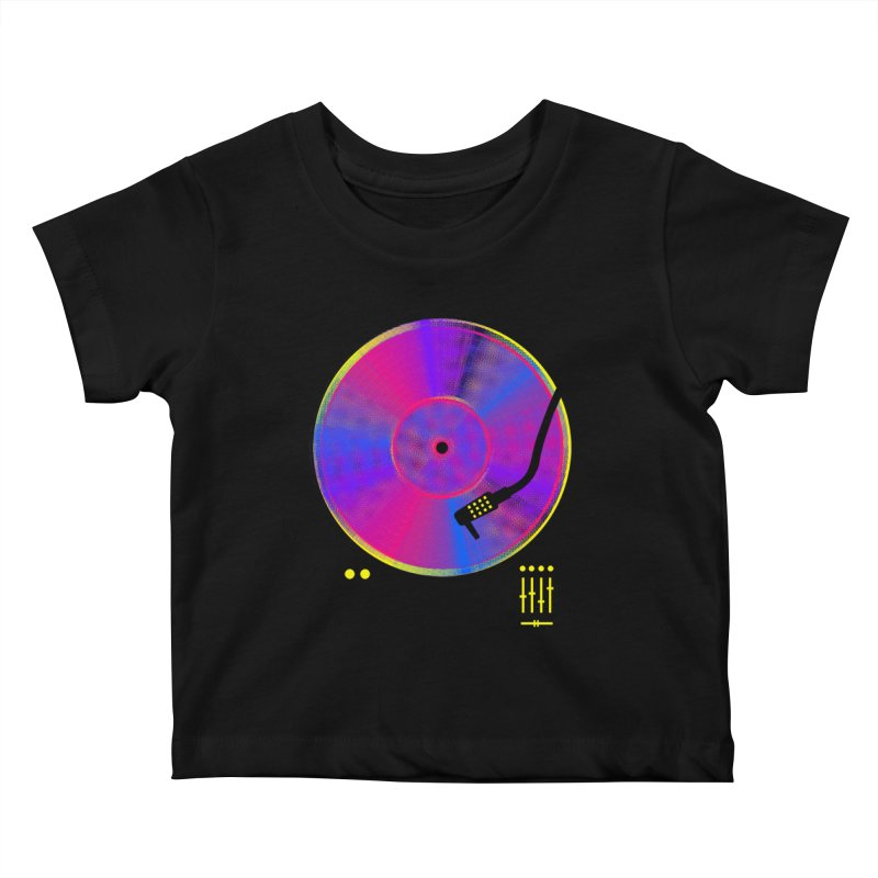 Retro Music Kids Baby T-Shirt by clingcling's Artist Shop