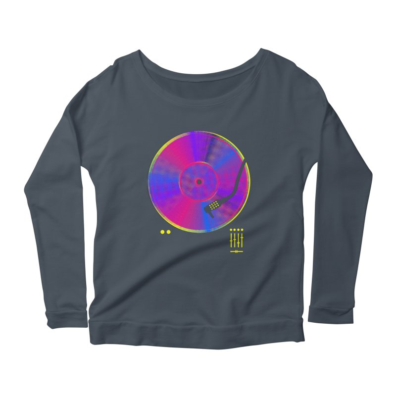 Retro Music Women's Scoop Neck Longsleeve T-Shirt by clingcling's Artist Shop