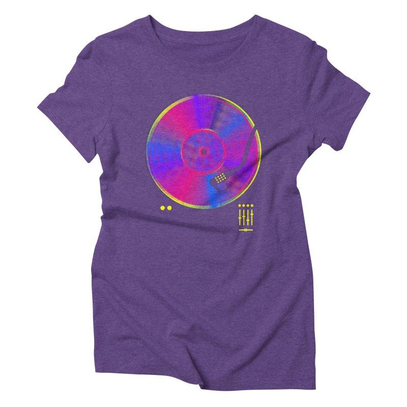 Retro Music Women's Triblend T-Shirt by clingcling's Artist Shop