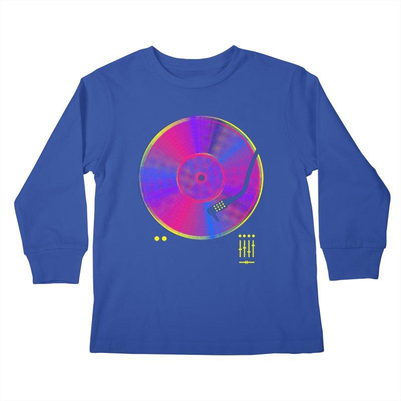 Retro Music Kids Longsleeve T-Shirt by clingcling's Artist Shop