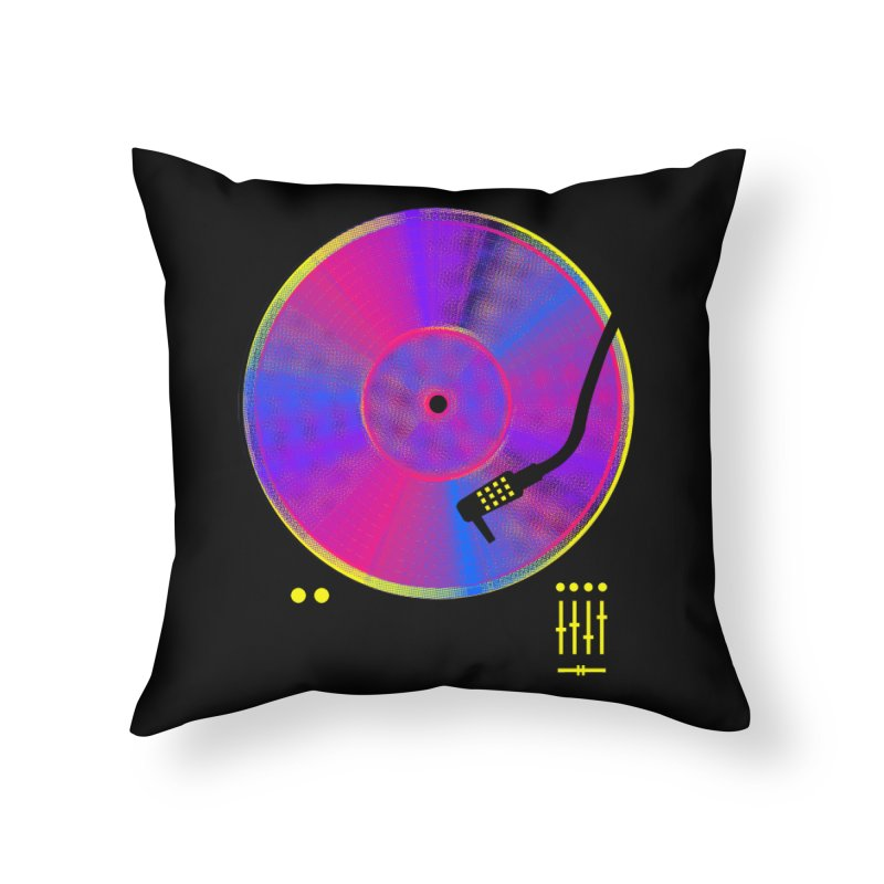 Retro Music Home Throw Pillow by clingcling's Artist Shop