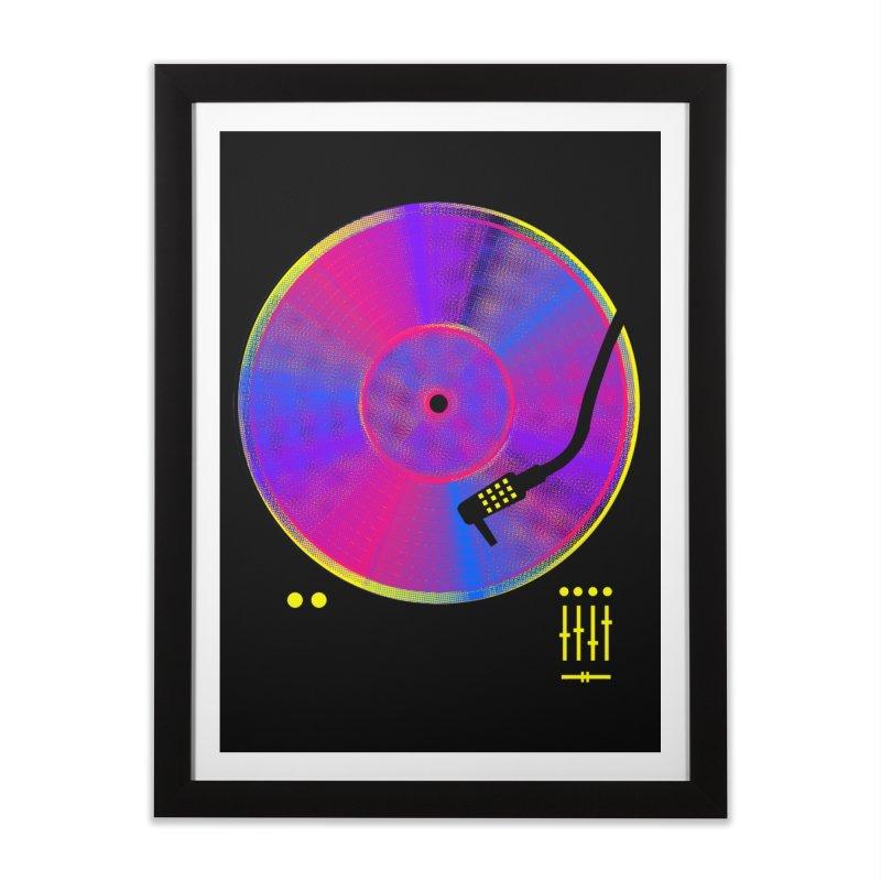 Retro Music Home Framed Fine Art Print by clingcling's Artist Shop