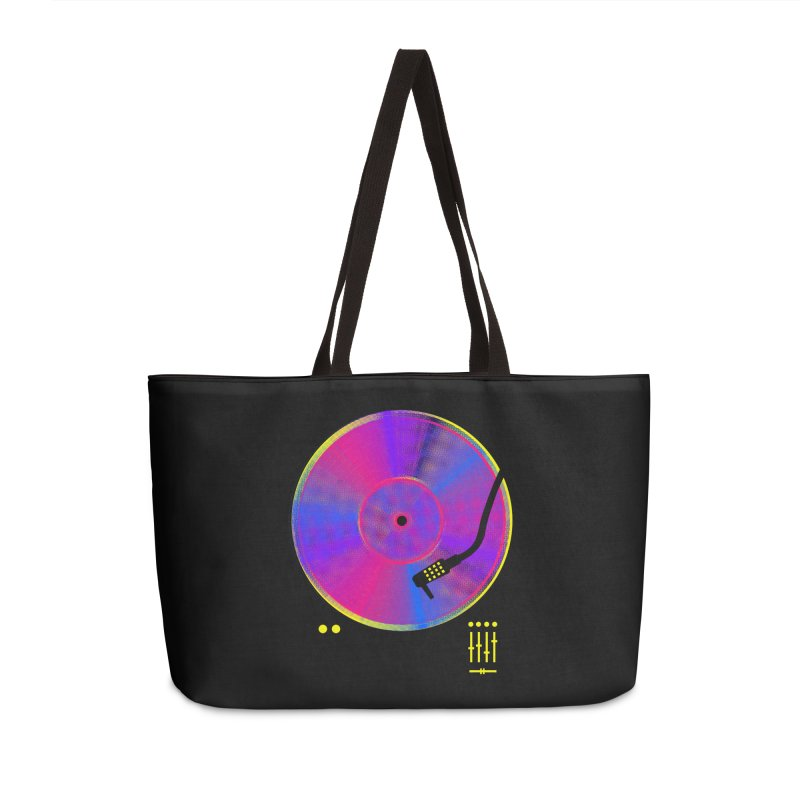 Retro Music Accessories Weekender Bag Bag by clingcling's Artist Shop