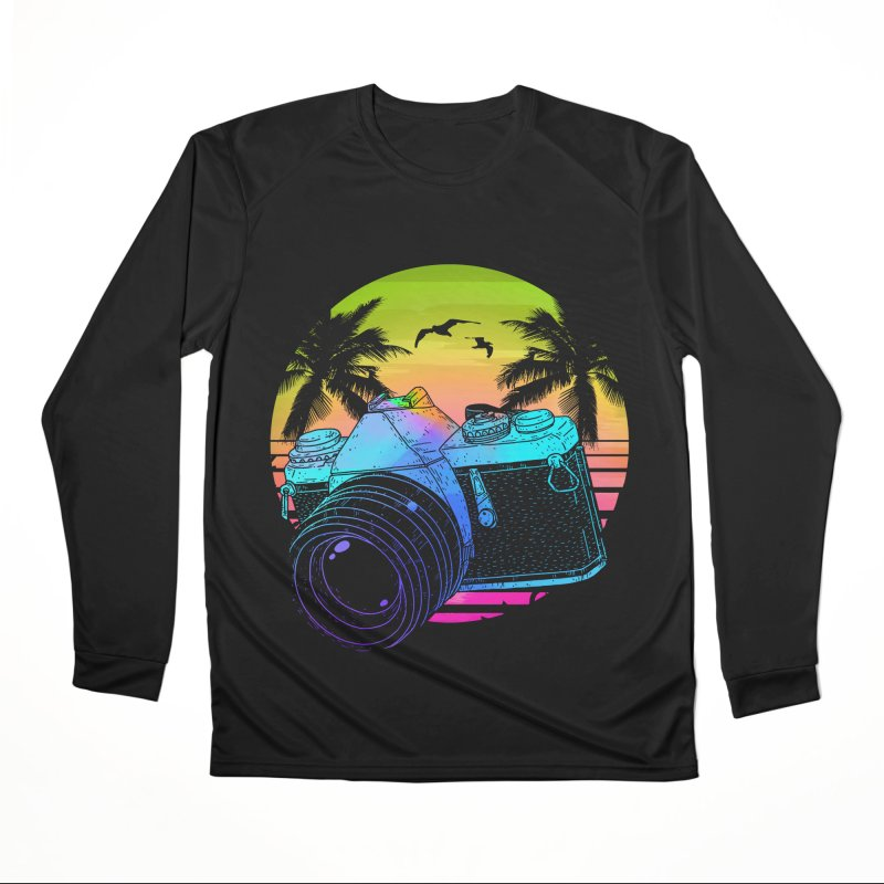 Retro Camera Women's Performance Unisex Longsleeve T-Shirt by clingcling's Artist Shop