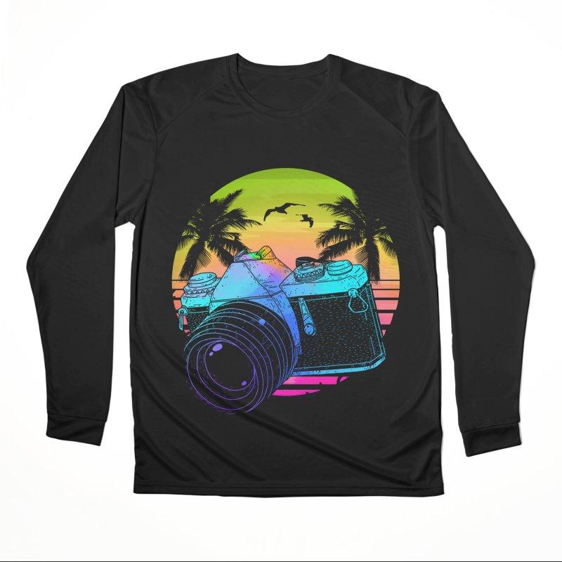Retro Camera Men's Performance Longsleeve T-Shirt by clingcling's Artist Shop