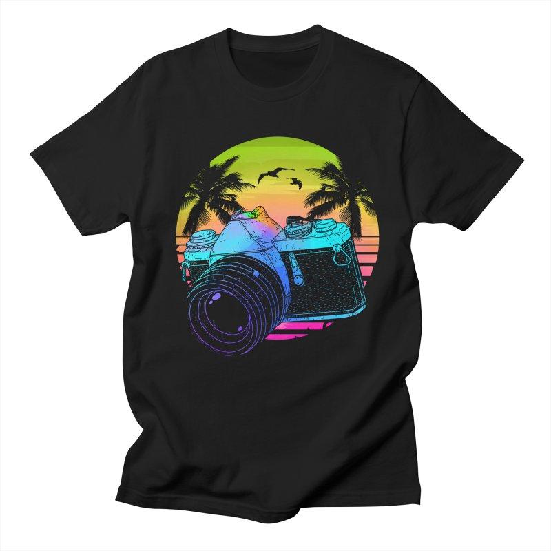 Retro Camera Men's Regular T-Shirt by clingcling's Artist Shop