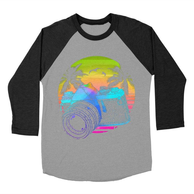 Retro Camera Men's Baseball Triblend Longsleeve T-Shirt by clingcling's Artist Shop
