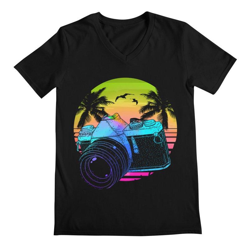 Retro Camera Men's Regular V-Neck by clingcling's Artist Shop