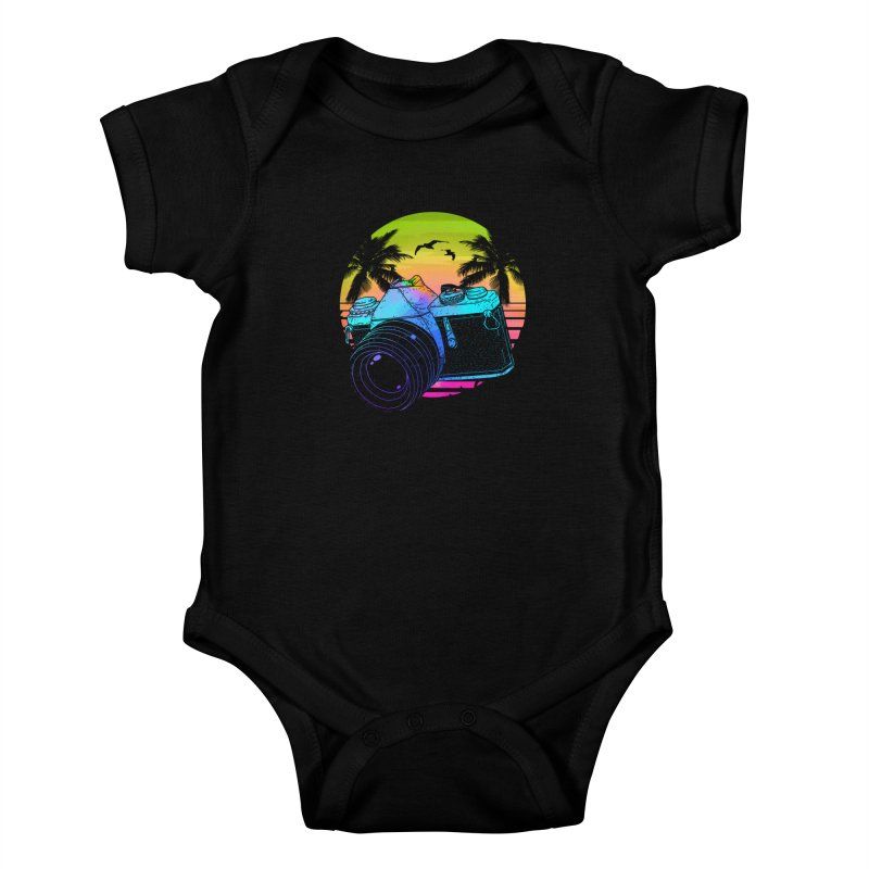 Retro Camera Kids Baby Bodysuit by clingcling's Artist Shop