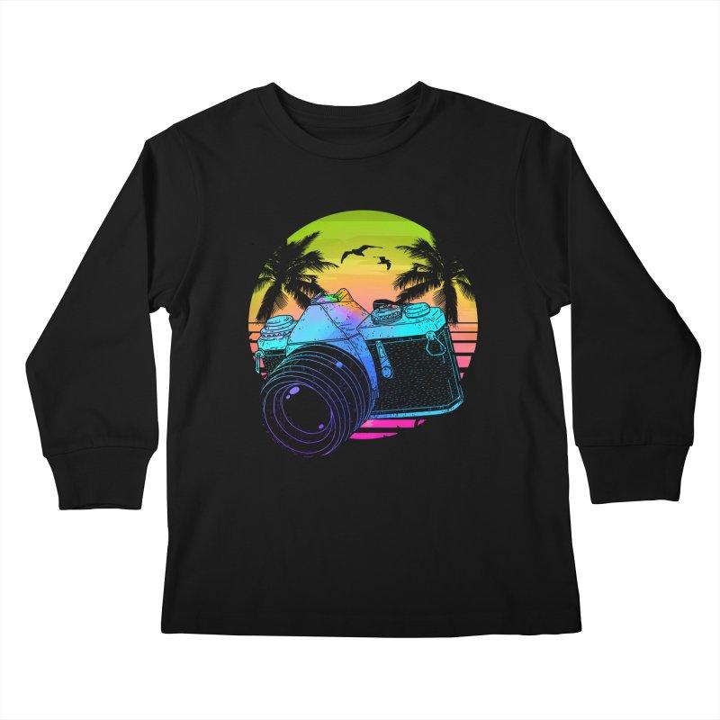 Retro Camera Kids Longsleeve T-Shirt by clingcling's Artist Shop