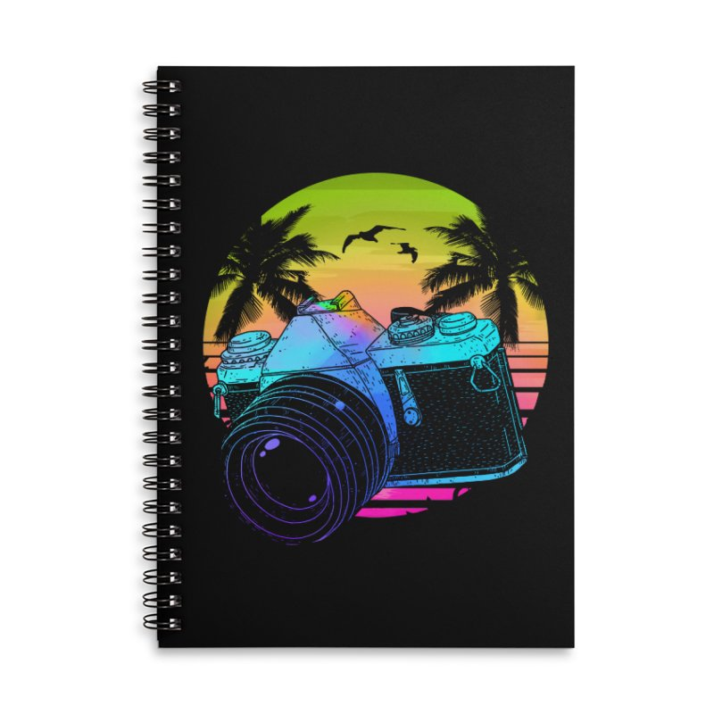 Retro Camera Accessories Lined Spiral Notebook by clingcling's Artist Shop